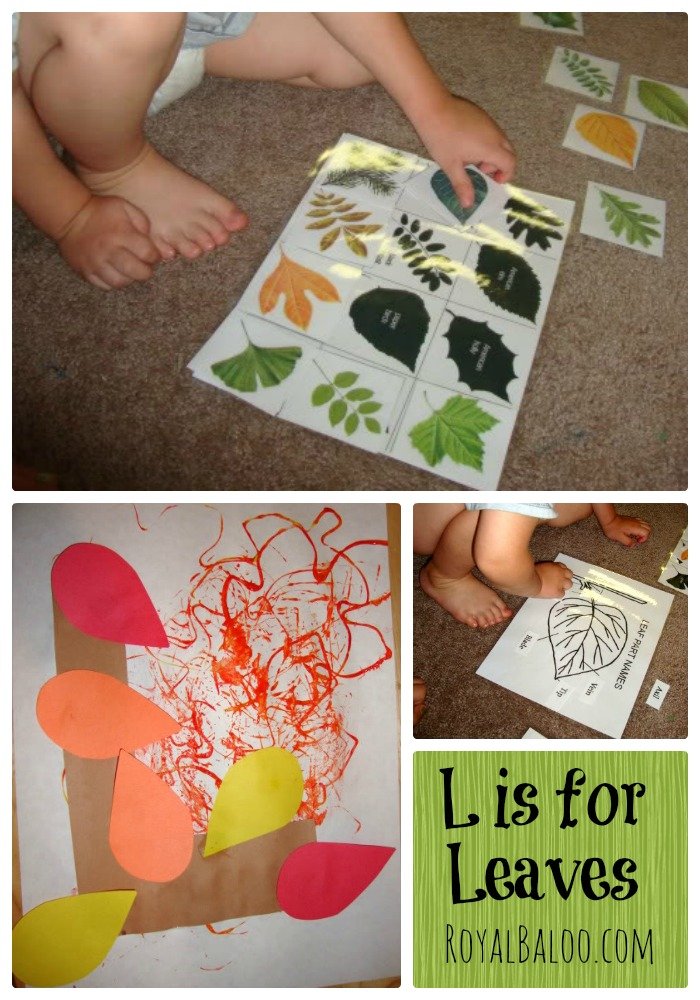 L is for Leaves Tot School and Preschool Week