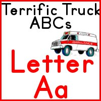 Truck ABC letter A