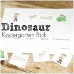 Free Dinosaur Kindergarten pack! Math and language arts (reading and writing) activities for kindergarten!