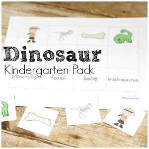 Exciting Dinosaur Kindergarten Pack for Math and Reading
