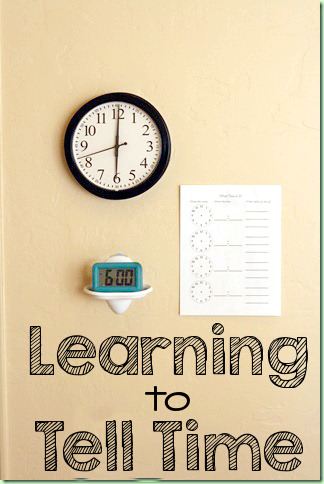 Learn to Tell Time with a Time Telling Center