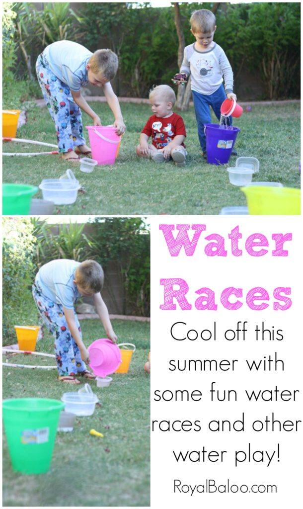 Water races - need a fun way to cool off this summer?  Try these water races!  Gets the kids wet, cooled off, and moving!