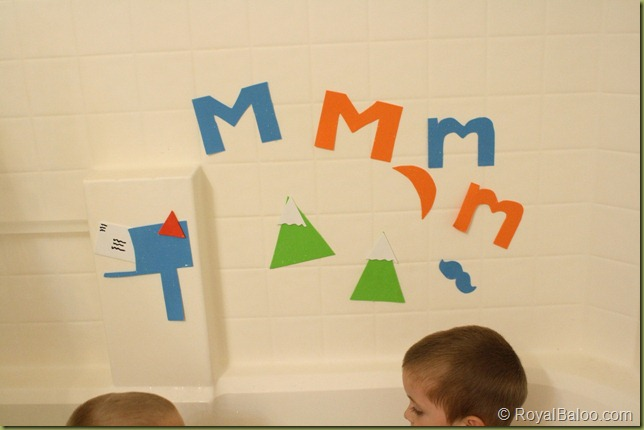 Letter M Themed Bath