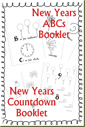 New Years Booklets - Countdown and ABC
