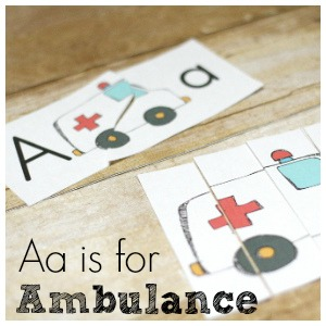 Letter A Printables – A is for Ambulance