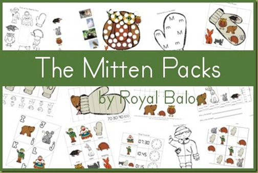 graphic about The Mitten Story Printable identified as Free of charge The Mitten Printable Packs - Royal Baloo