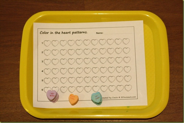 Patterning with small manipulatives