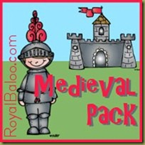 Free Medieval Kinder and First Grade Printable Pack