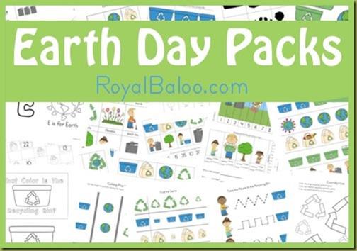 Free Earth Day Printable Packs  Royal Baloo