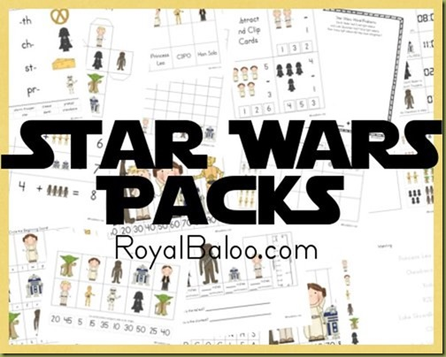 Star Wars Free Printable Packs - Royal Baloo