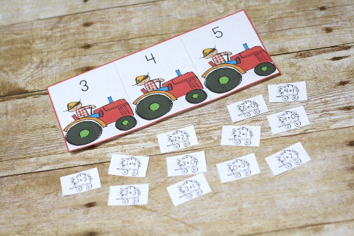Free Printable Pack - Tractor Themed! Tractor Kindergarten pack to practice math and language arts (reading) skills!