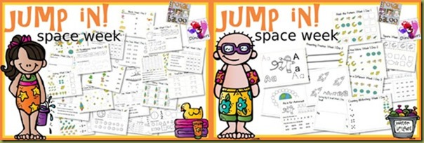 Jump In! To Learning Week 1 - Space Theme