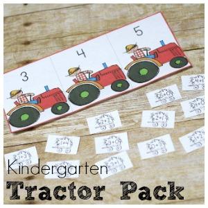 Tractor Kindergarten Printable Pack Free