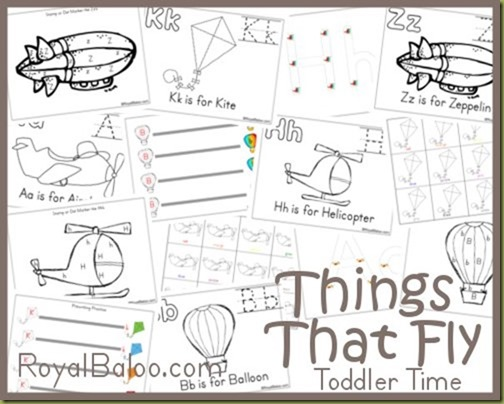 thingsthatflypreview - Free Pre School Printables
