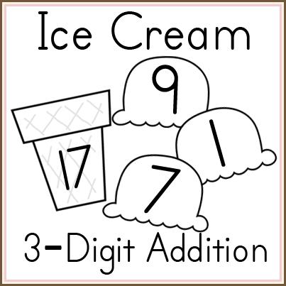 Ice Cream 3 Digit Addition