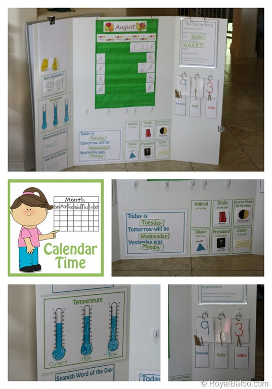 Calendar Board with Printables