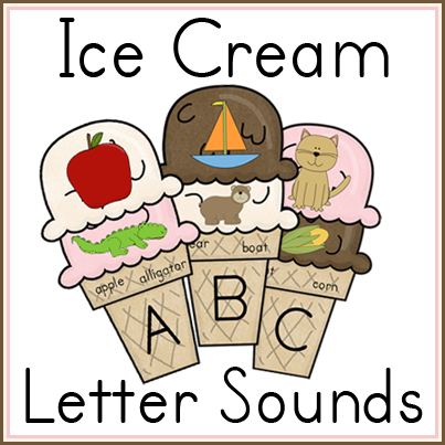 Ice Cream Letter Sounds