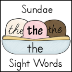 Sight Word Sundaes Printable