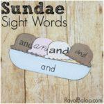 Sight Word Sundaes – Fun Summer Reading Practice