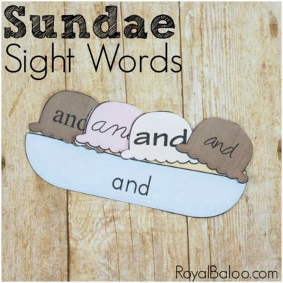 Sight Word Sundaes – Fun Summer Reading Practice