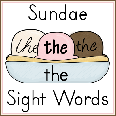 SundaeSightWords
