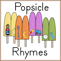 Rhyming Practice with Popsicle Rhymes FREE Printable