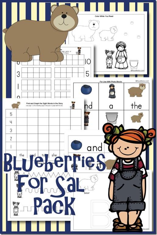 Blueberries for Sal Preschool Pack