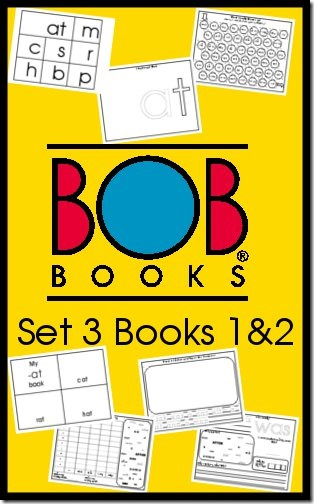 BOB Books Printables Set 3 Books 1 and 2