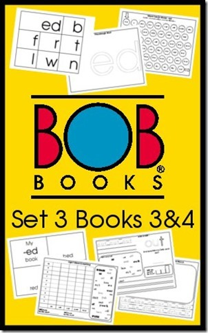 BOB Books Set 3 Books 3 and 4 Free Printables