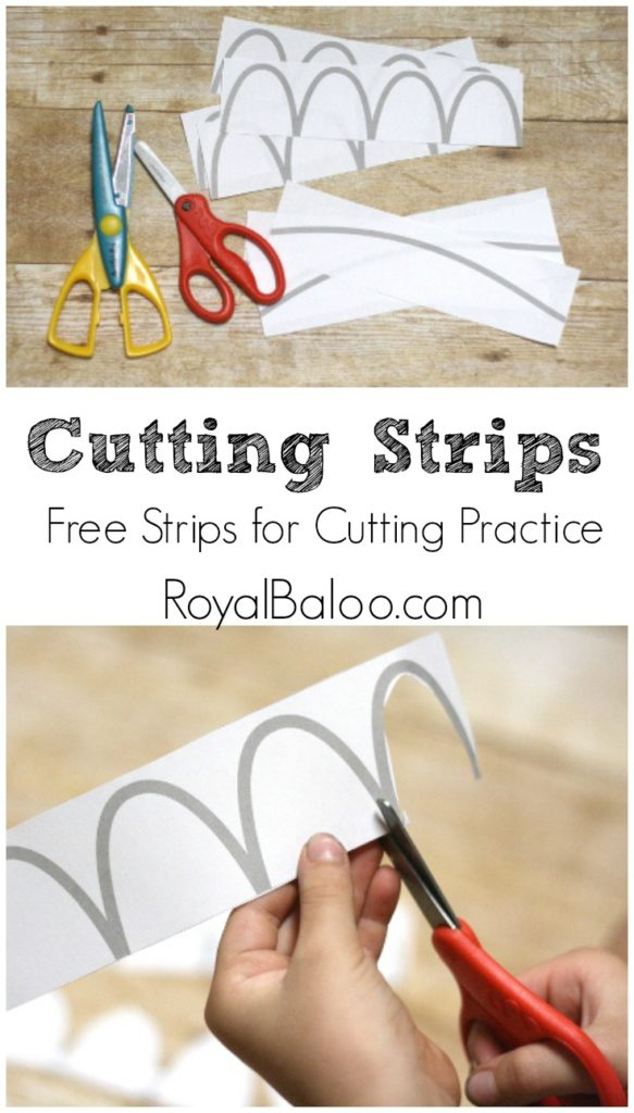 Free Printables to Practice Cutting Skills. Great fine motor skills with scissors.