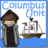 Free Christopher Columbus Unit Kindergarten, 1st, 2nd grade