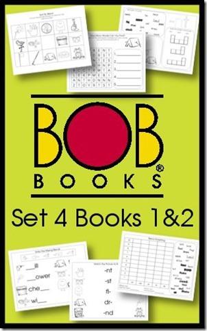 Free BOB Books Printables Set 4 Books 1 and 2