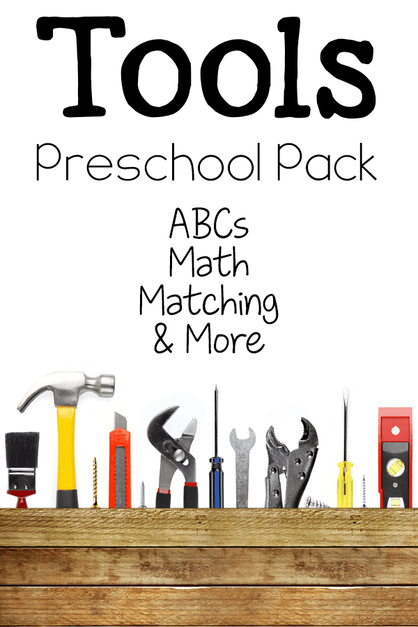Work on ABCs and math with your preschooler and this fun tool printable pack!