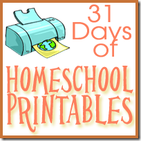 31 Days of Homeschool Printables