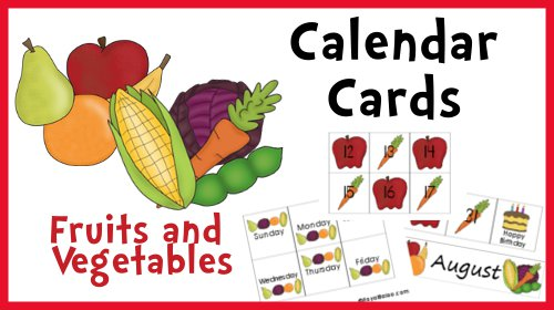 CalendarCardsFruitsVeggies