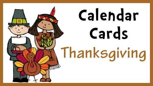 CalendarCardsNovemberThanksgiving