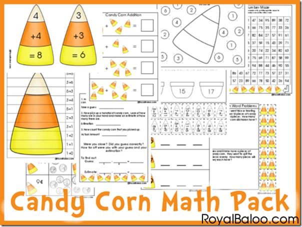 Juicy Candy Corn Math Pack For Addition Estimation Etc