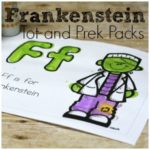 Free Frankenstein Pack – Tot and PreK Packs
