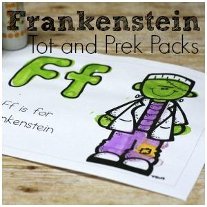 Free Frankenstein Pack – Tot and PreK Packs