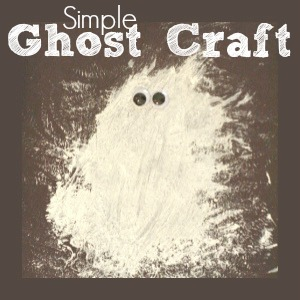Simple Ghost Craft Painting Project for Preschoolers