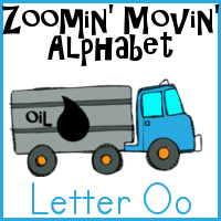 Free Oo is for Oil Tanker Truck Pack–Zoomin Moving ABCs