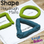 Learn shapes and fine motor skills with playdough
