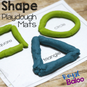 Fun with Play Dough and Shape Play Dough Pages