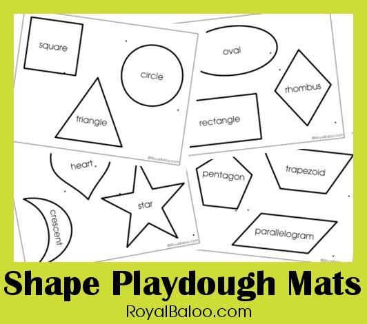 Shape Play Dough Mats