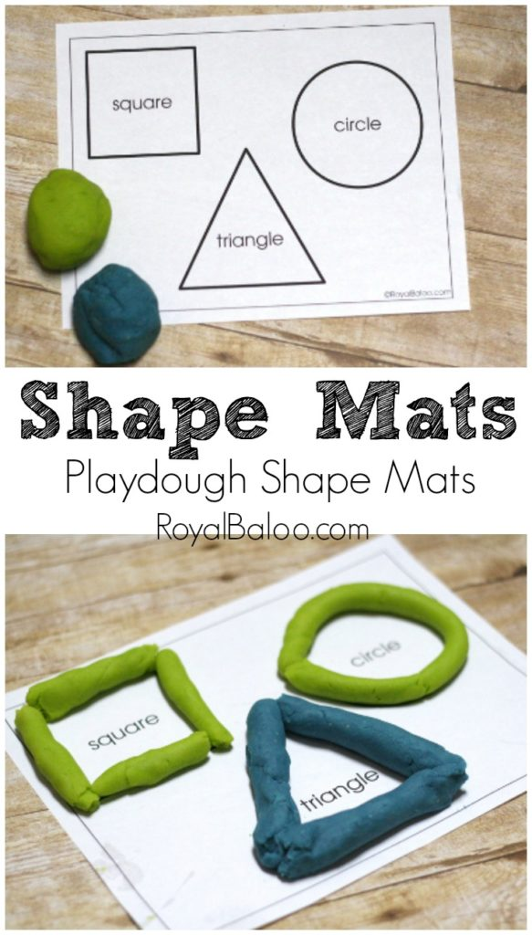 Printable Shapes playdough Mat
