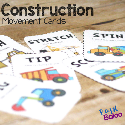Construction Movement Cards to Get Kids Moving