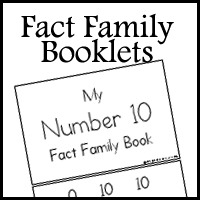 Fact Family Booklets