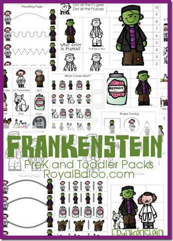 Free Frankenstein PreK and Tot Packs