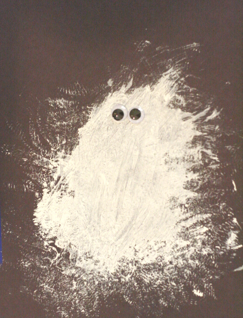 Simple ghost craft and painting project for toddlers and preschoolers.