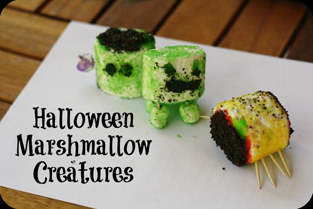 Halloween Marshmallow Creatures